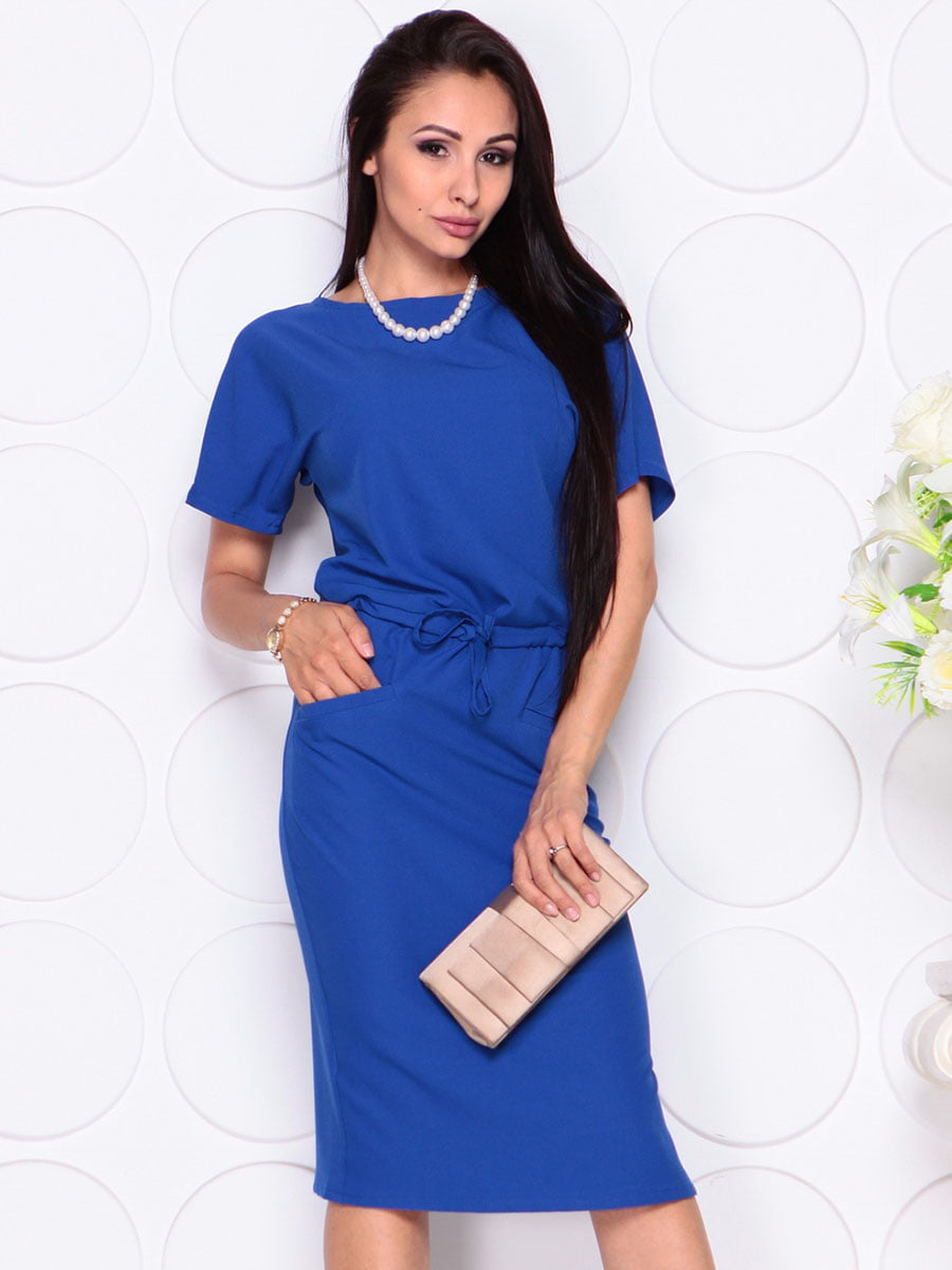 Платье цвета электрик | 4373734 | фото 3