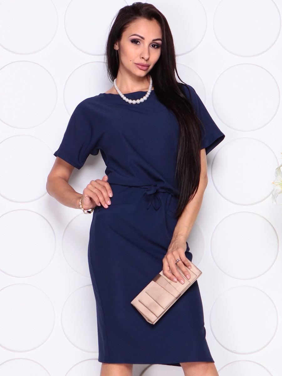 Платье темно-синее | 4373738