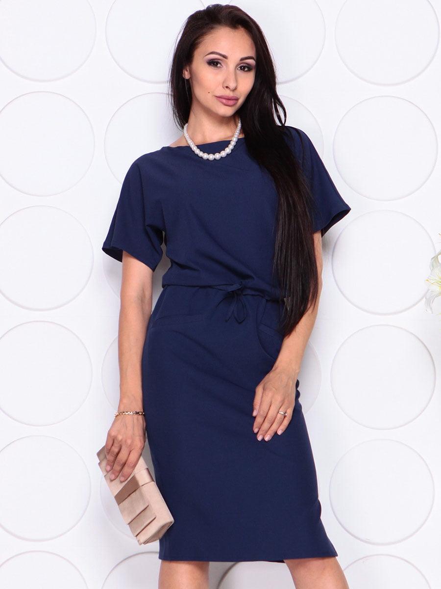 Платье темно-синее | 4373738 | фото 4