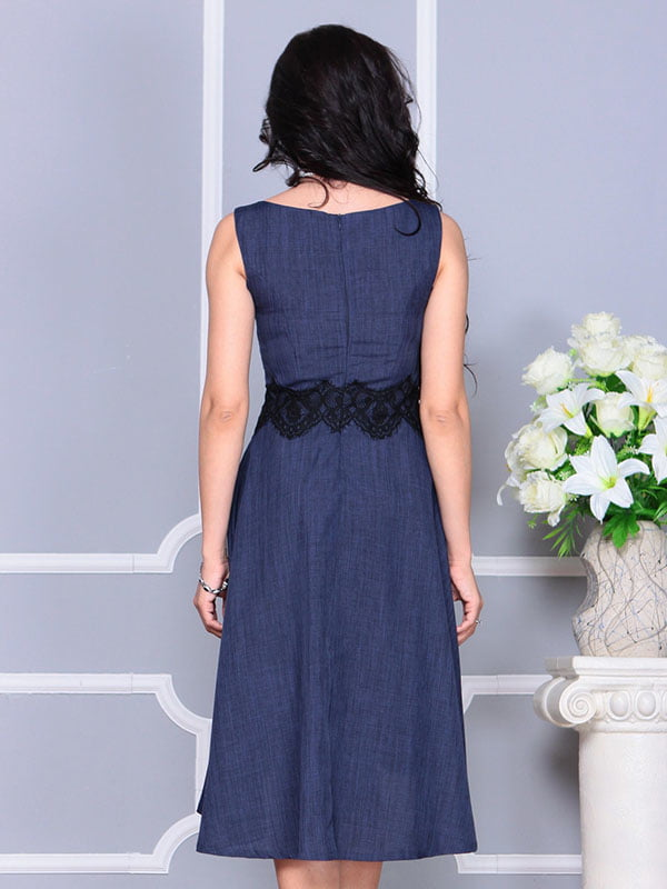 Платье темно-синее | 4373742 | фото 2