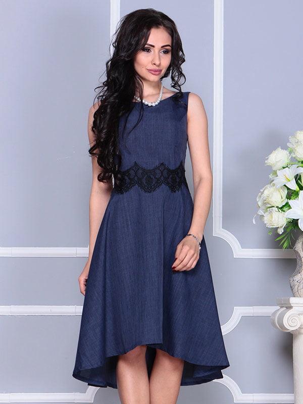 Платье темно-синее | 4373742 | фото 4