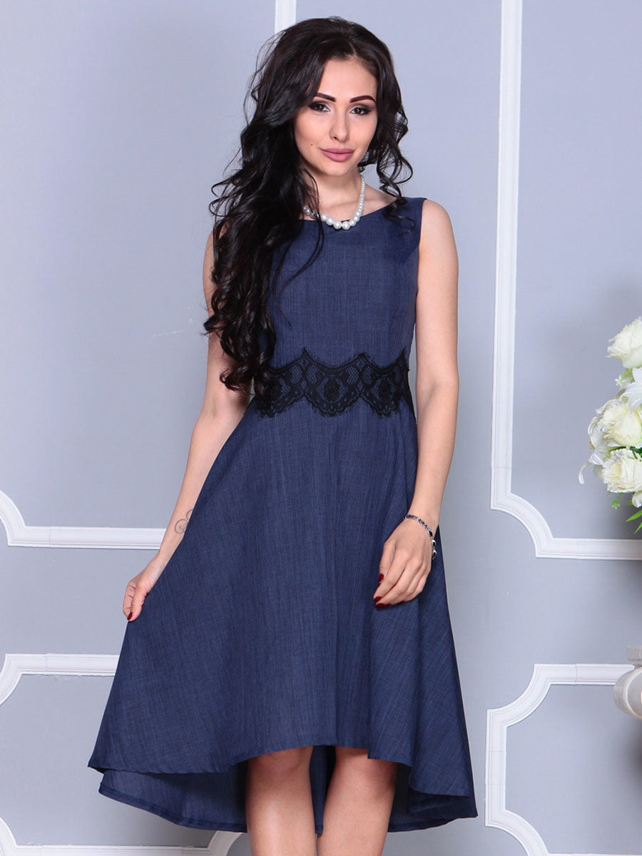 Платье темно-синее | 4373742 | фото 5