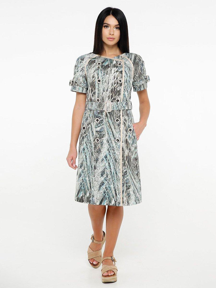 Сукня світло-блакитна в принт | 4382181