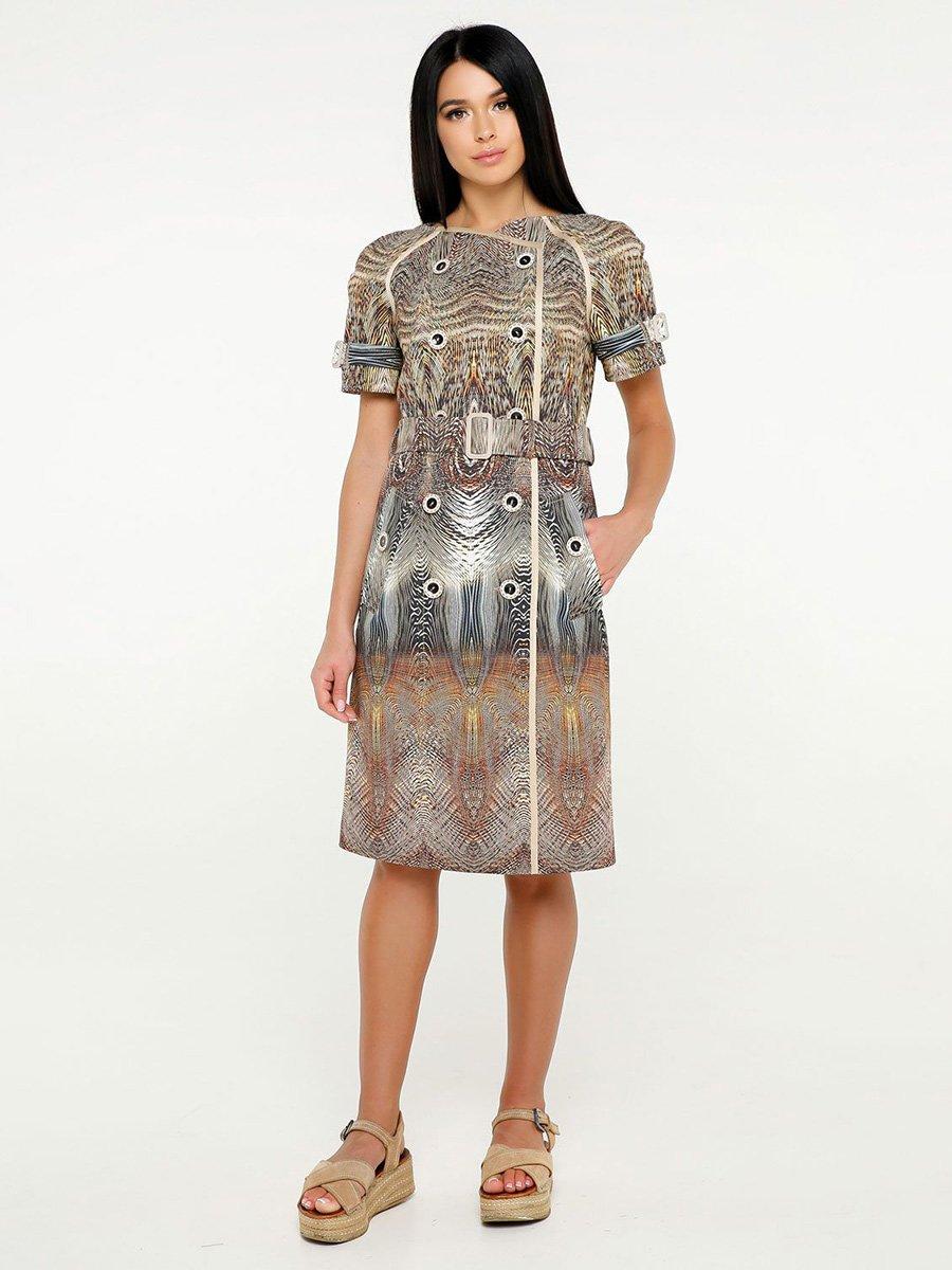 Сукня золотиста в принт | 4382183