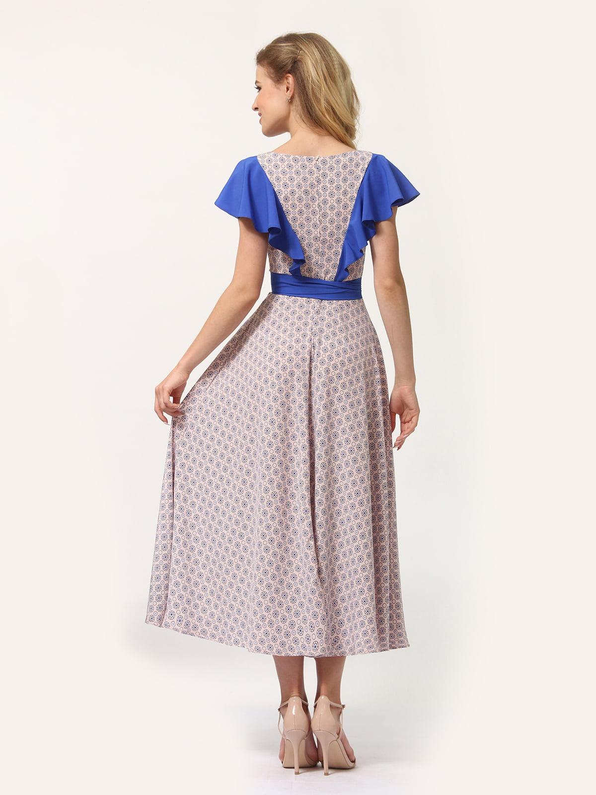 Платье бежевое с принтом | 4382760 | фото 3