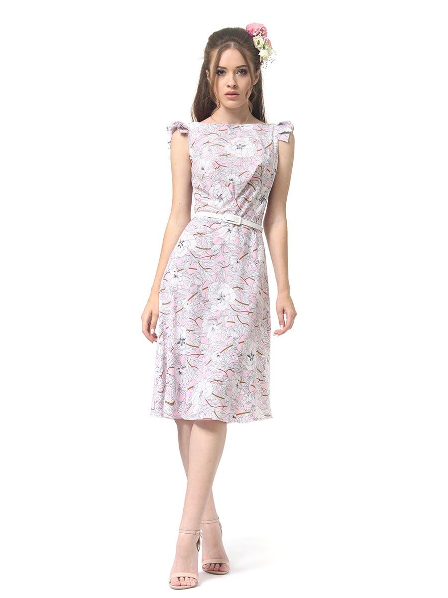 Сукня світло-рожева в принт | 4384617