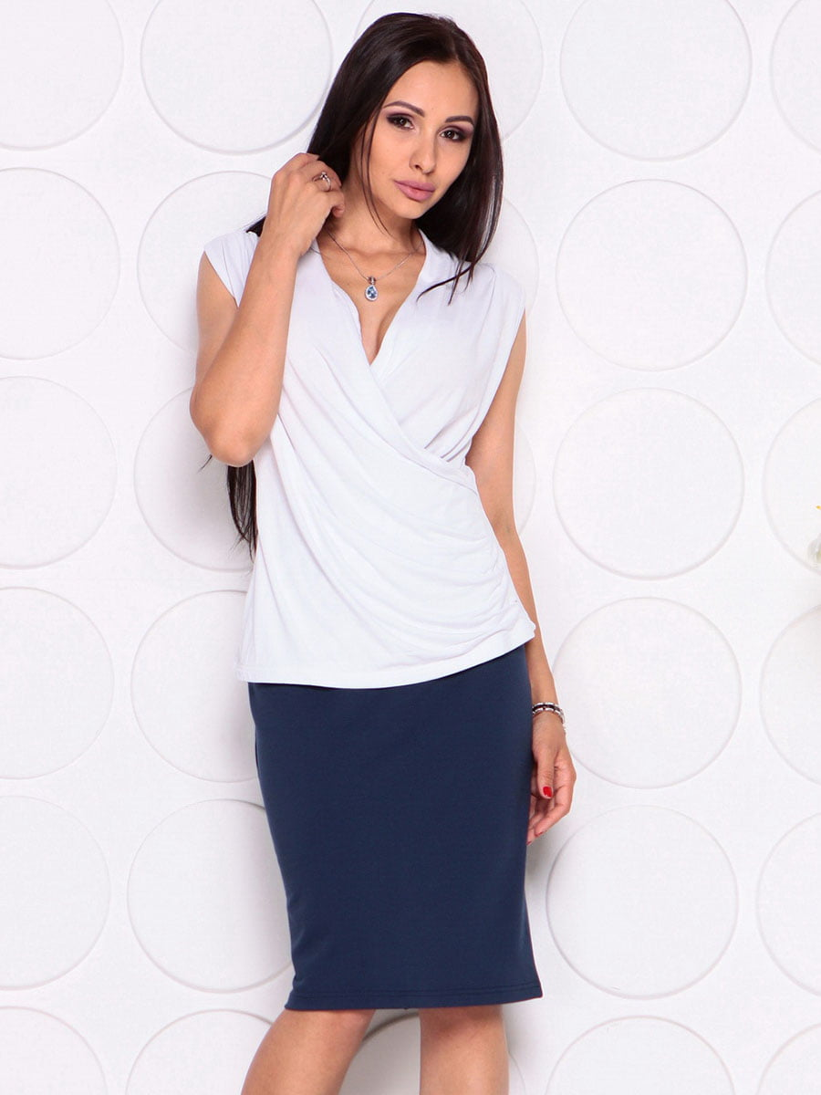 Блуза белая | 4382771 | фото 5