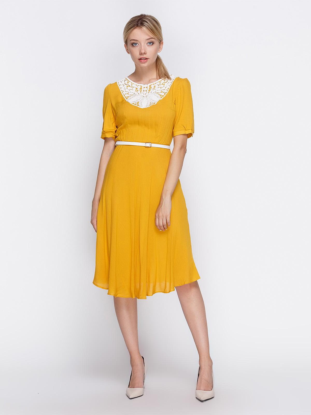 Платье желтое | 4358702