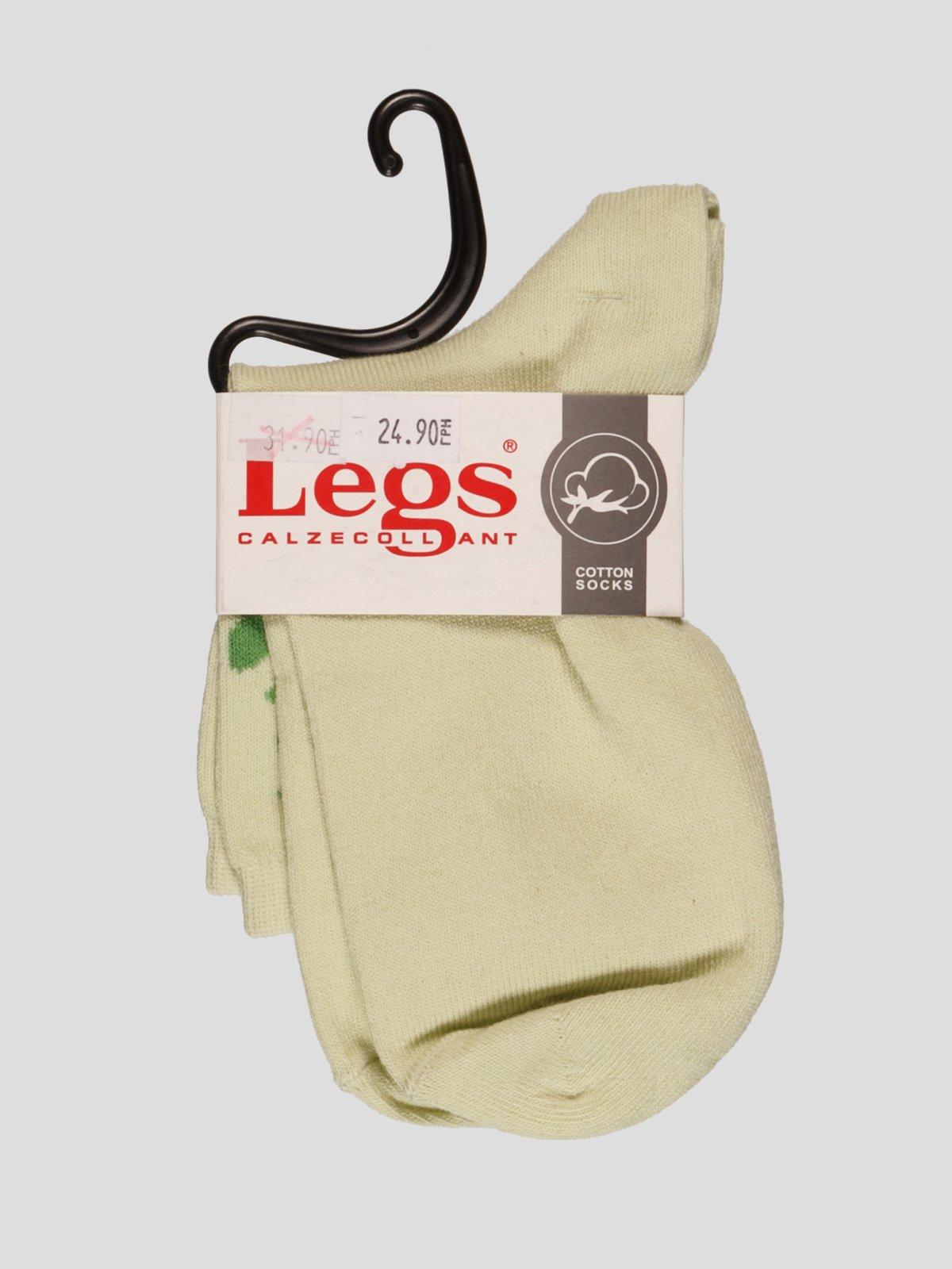 Шкарпетки світло-зелені | 4382450
