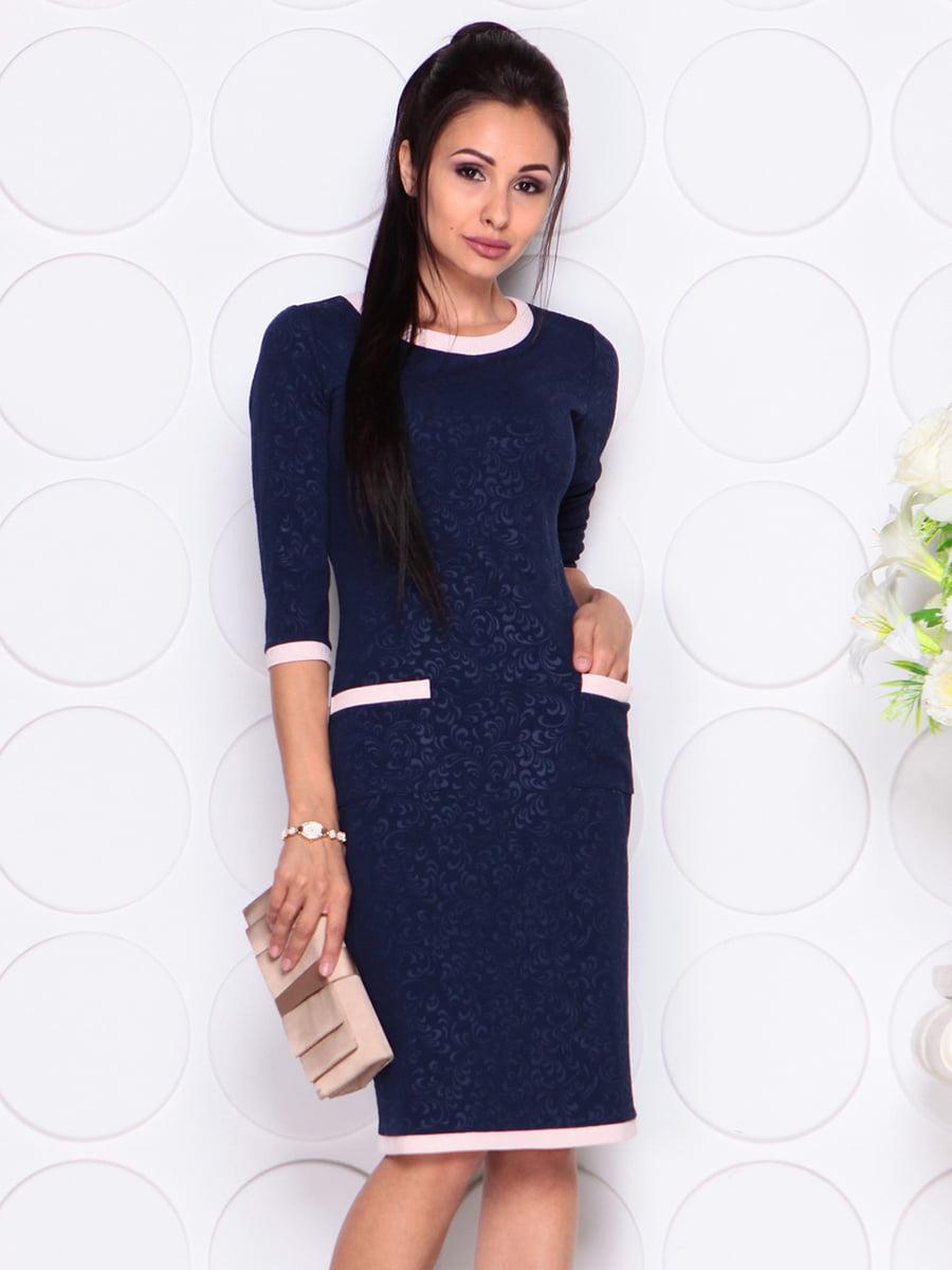 Платье темно-синее | 4364611