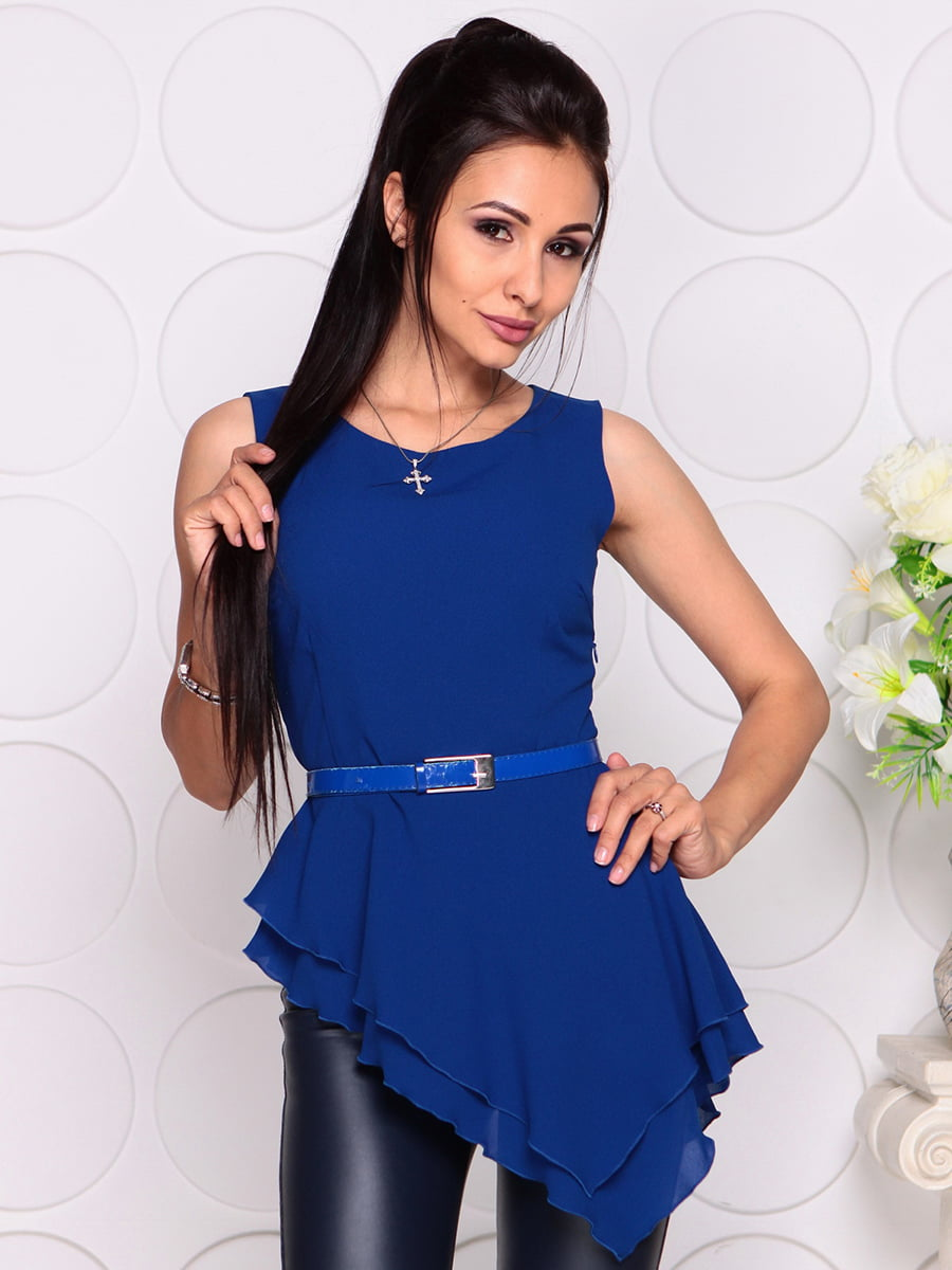 Блуза цвета электрик | 4384417 | фото 3