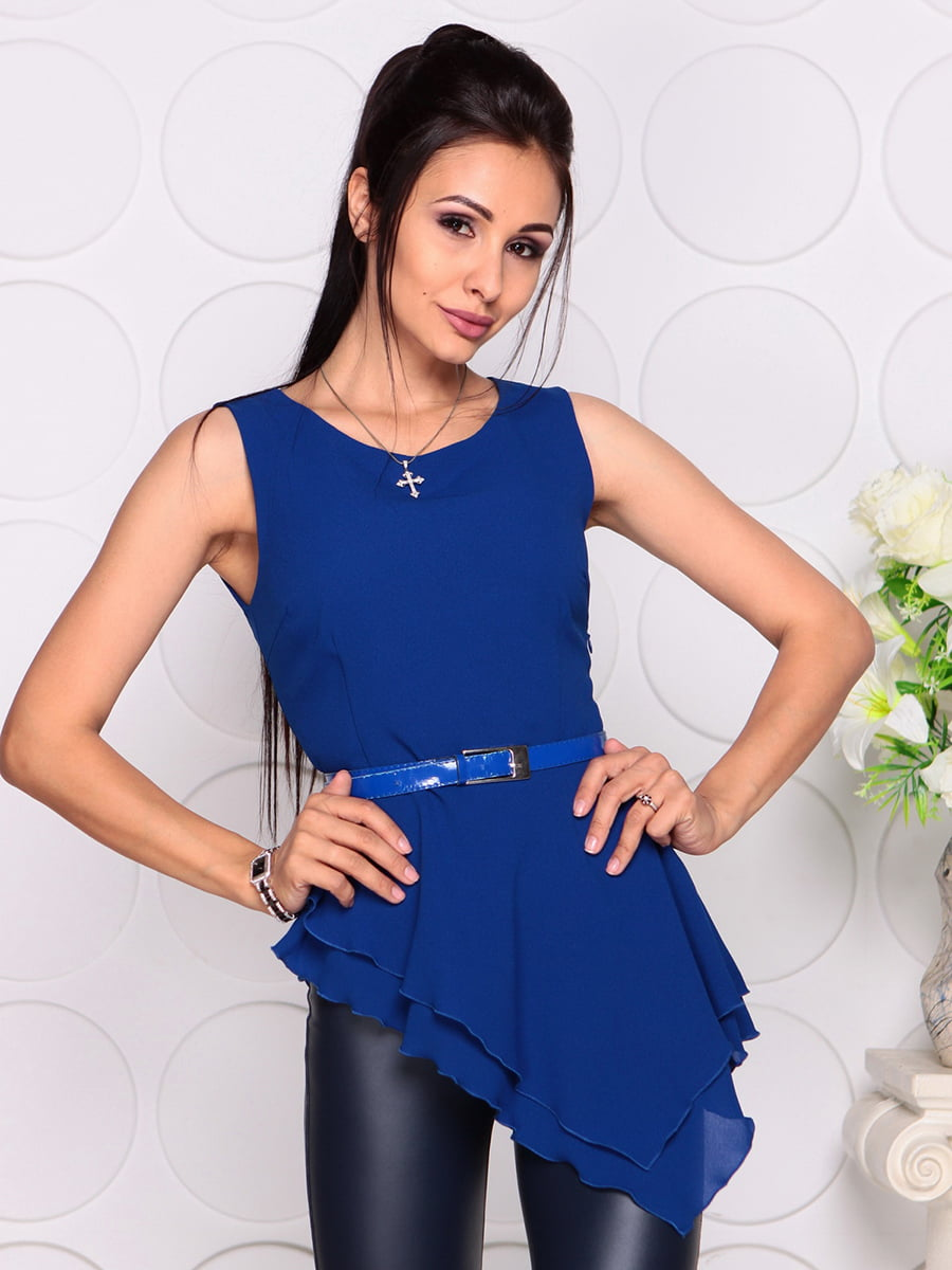 Блуза цвета электрик | 4384417 | фото 5