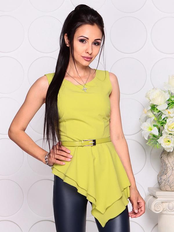 Блуза яблочного цвета | 4384421 | фото 3