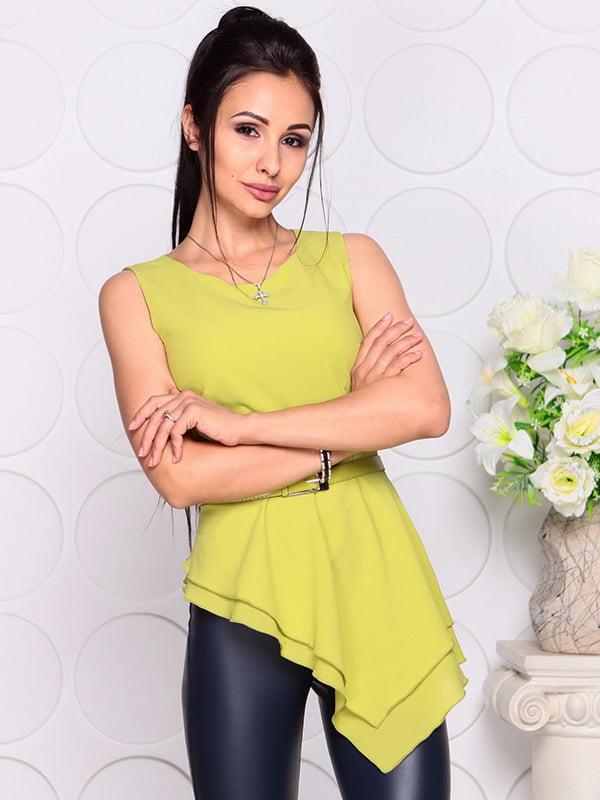Блуза яблочного цвета | 4384421 | фото 4
