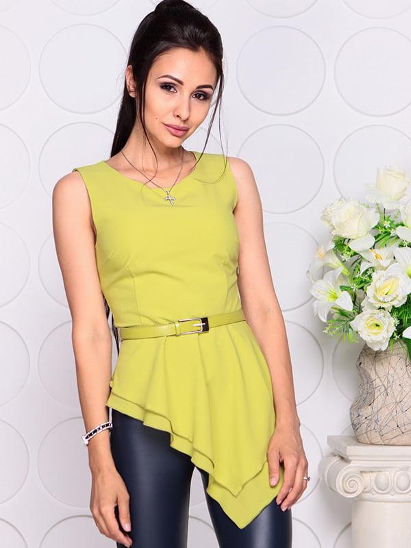 Блуза яблочного цвета | 4384421 | фото 5
