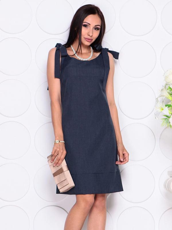 Платье темно-синее | 4384426 | фото 4