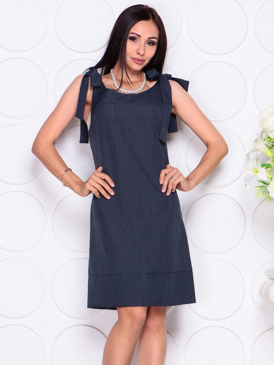 Платье темно-синее | 4384426 | фото 5