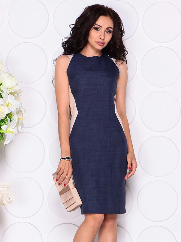 Сукня синьо-бежева   4384437