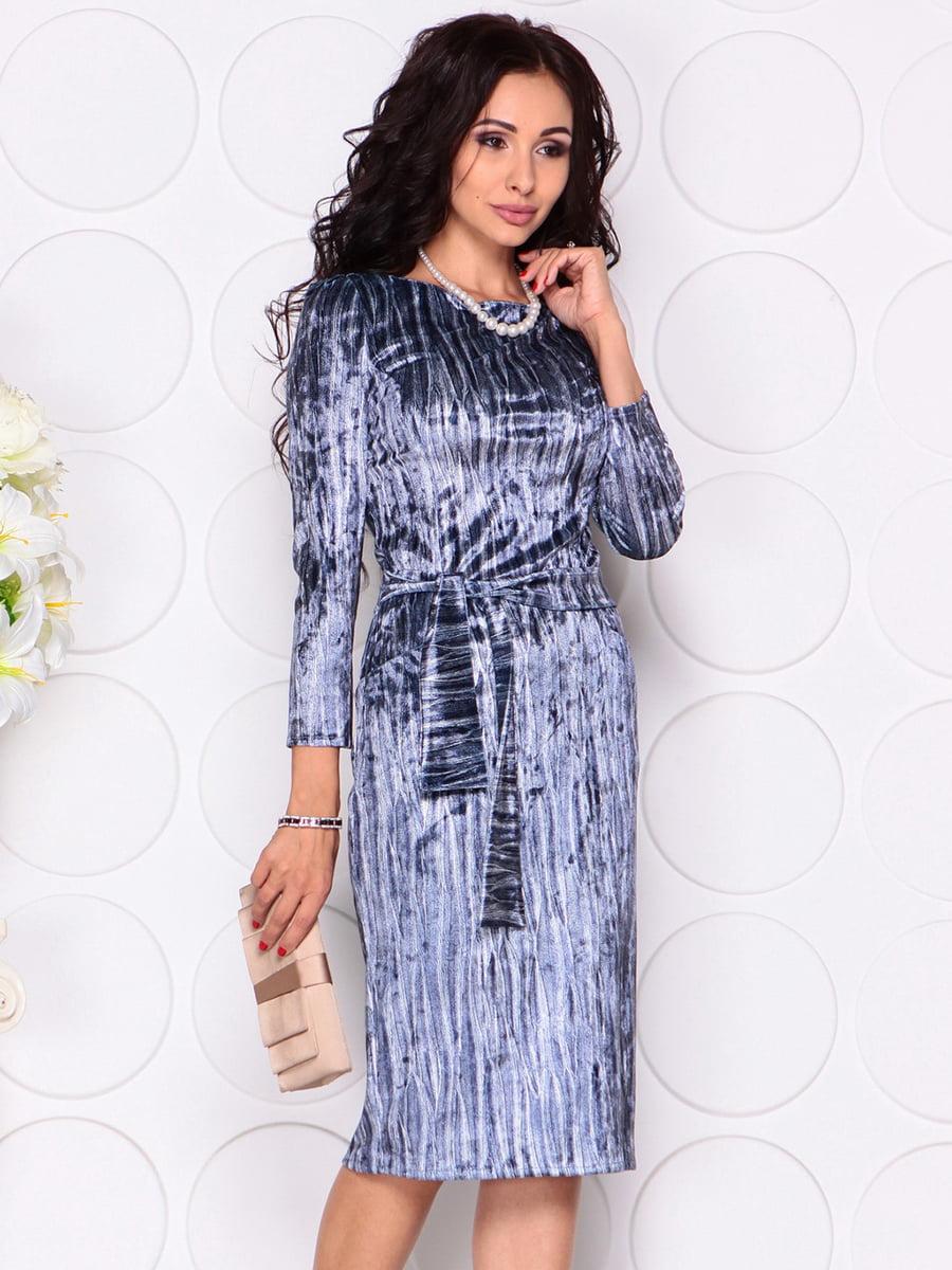Платье синее | 4384444