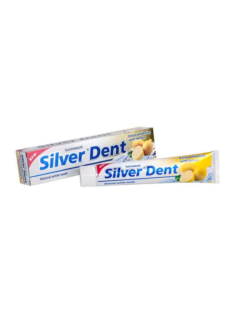 Зубна паста Silver Dent «Екстра відбілювання з лимоном» (100 г) | 4386686