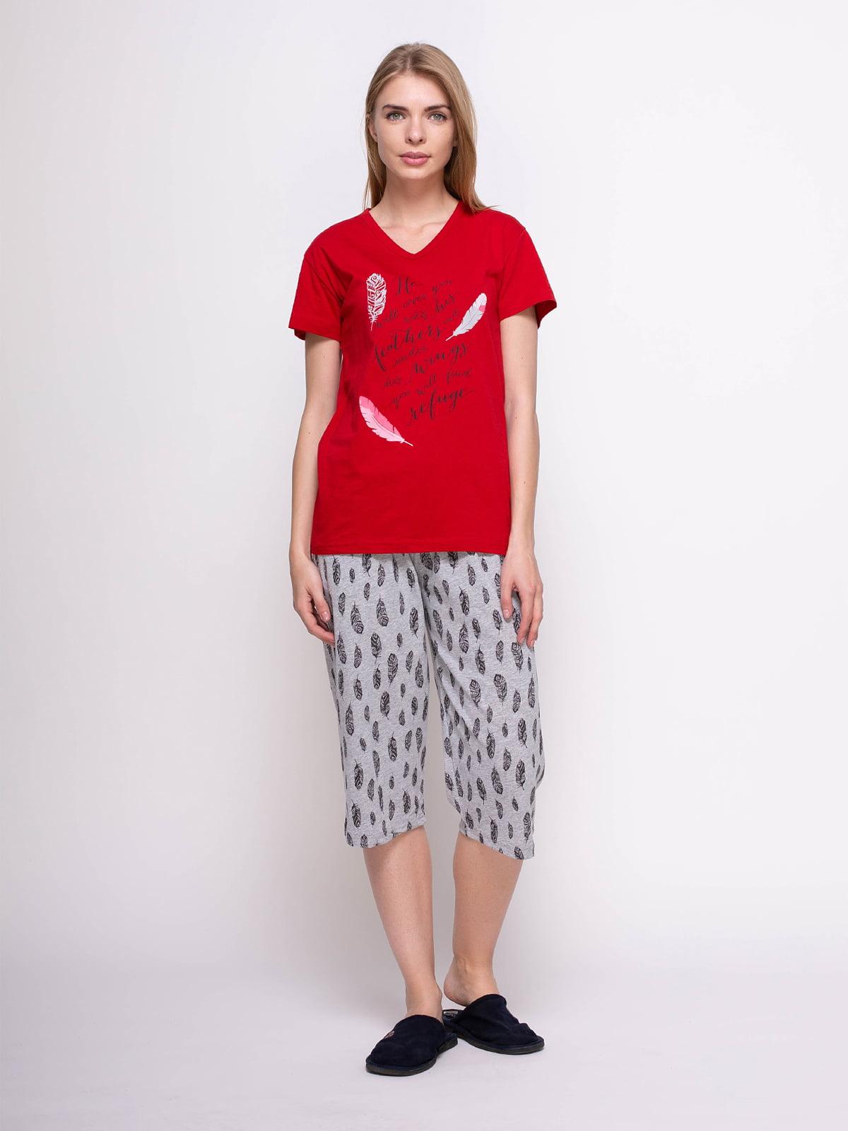 Піжама: футболка і бриджі | 4356882