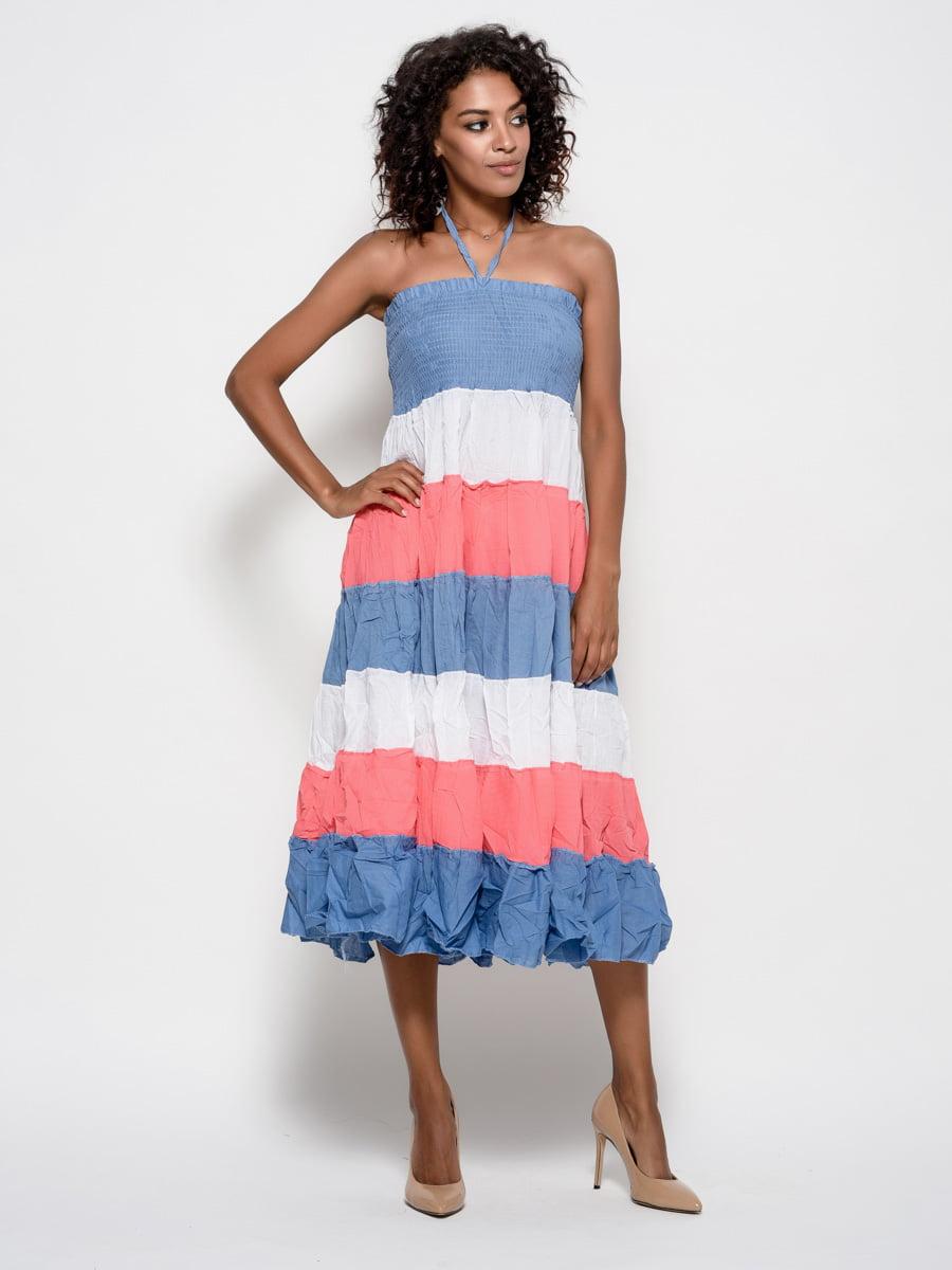 Платье в полоску   4387185