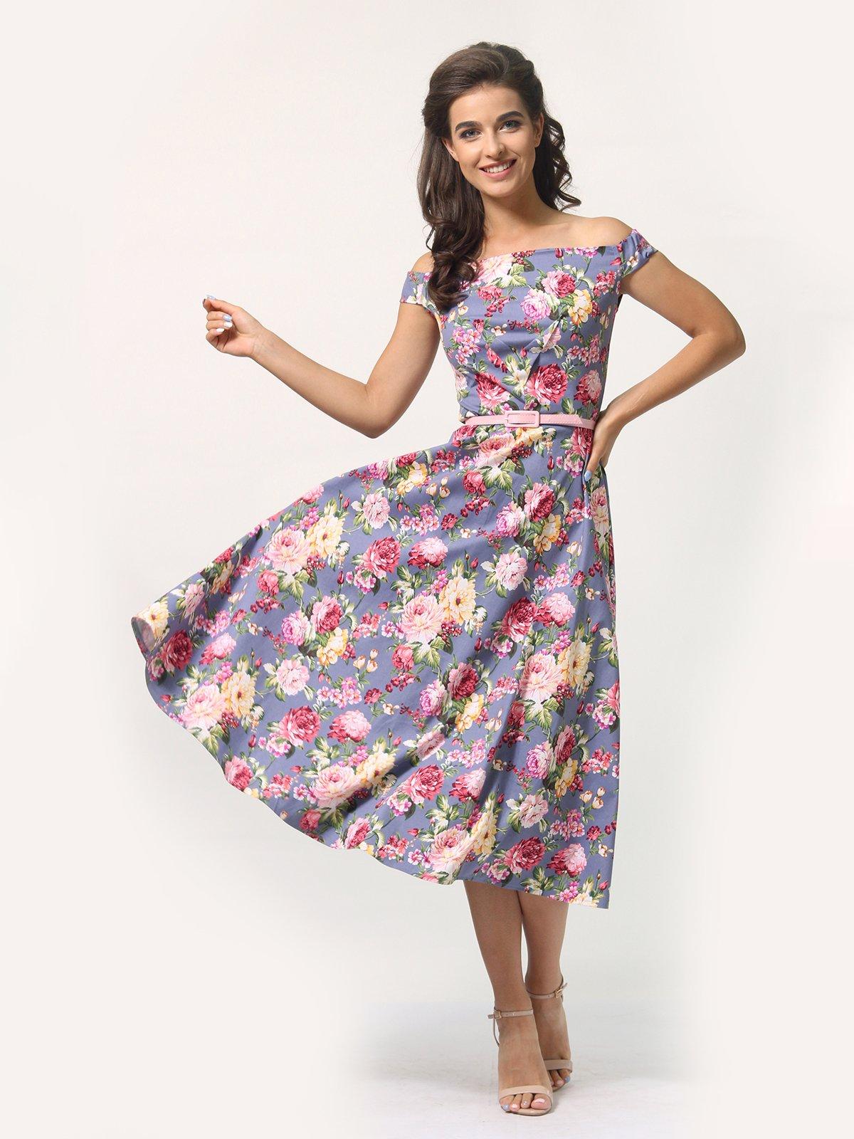 Платье в цветочный принт   4388464