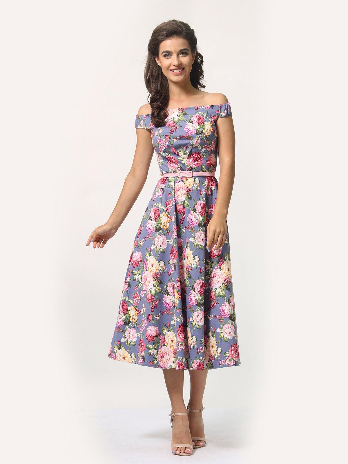 Платье в цветочный принт   4388464   фото 2