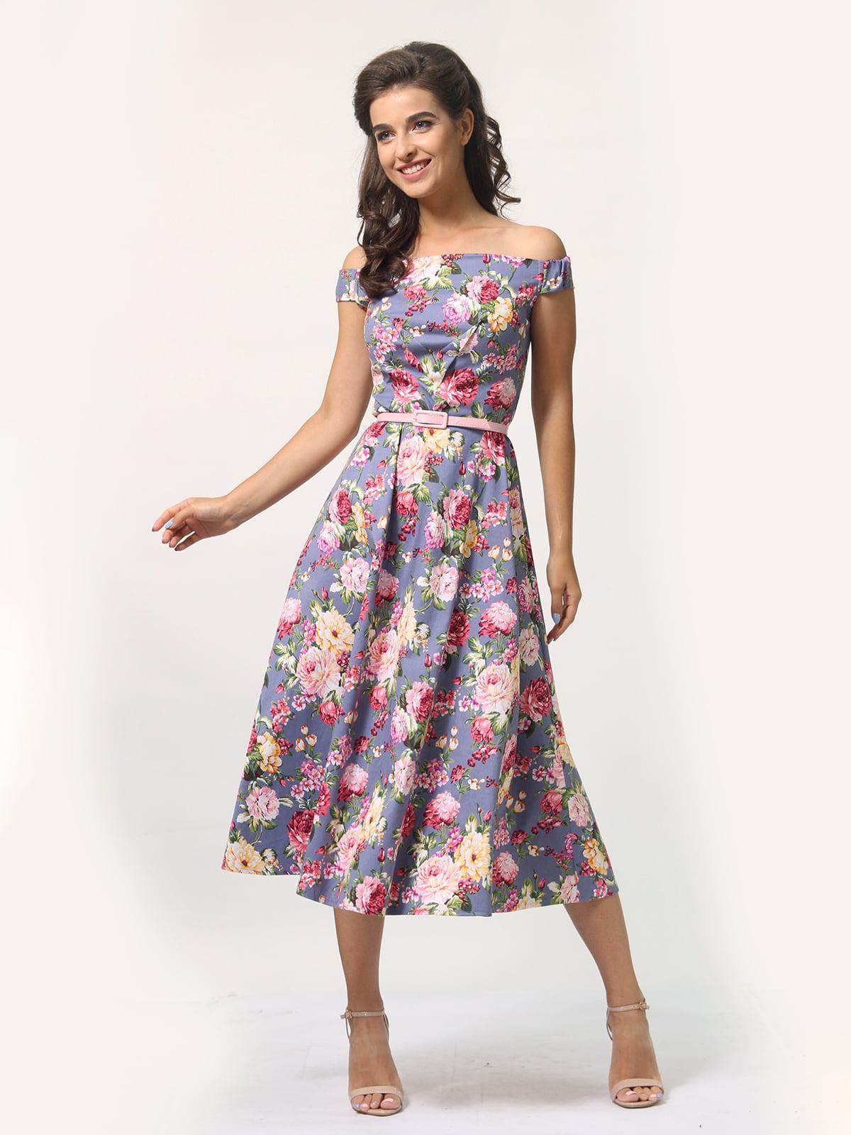 Платье в цветочный принт   4388464   фото 3