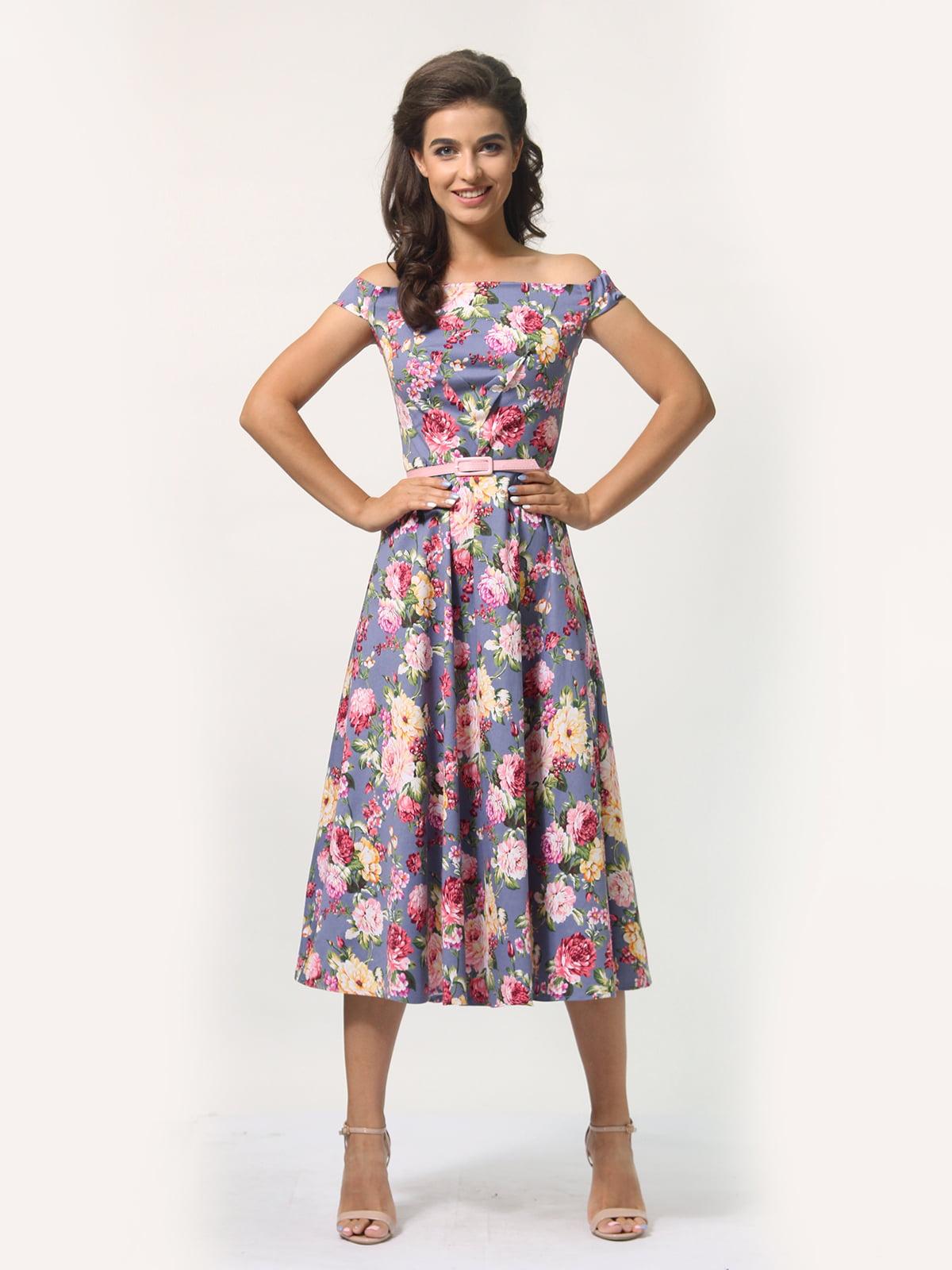 Платье в цветочный принт   4388464   фото 4