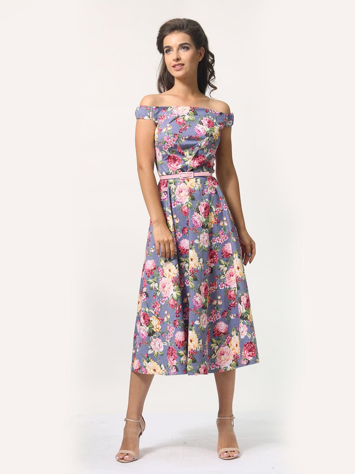 Платье в цветочный принт   4388464   фото 5