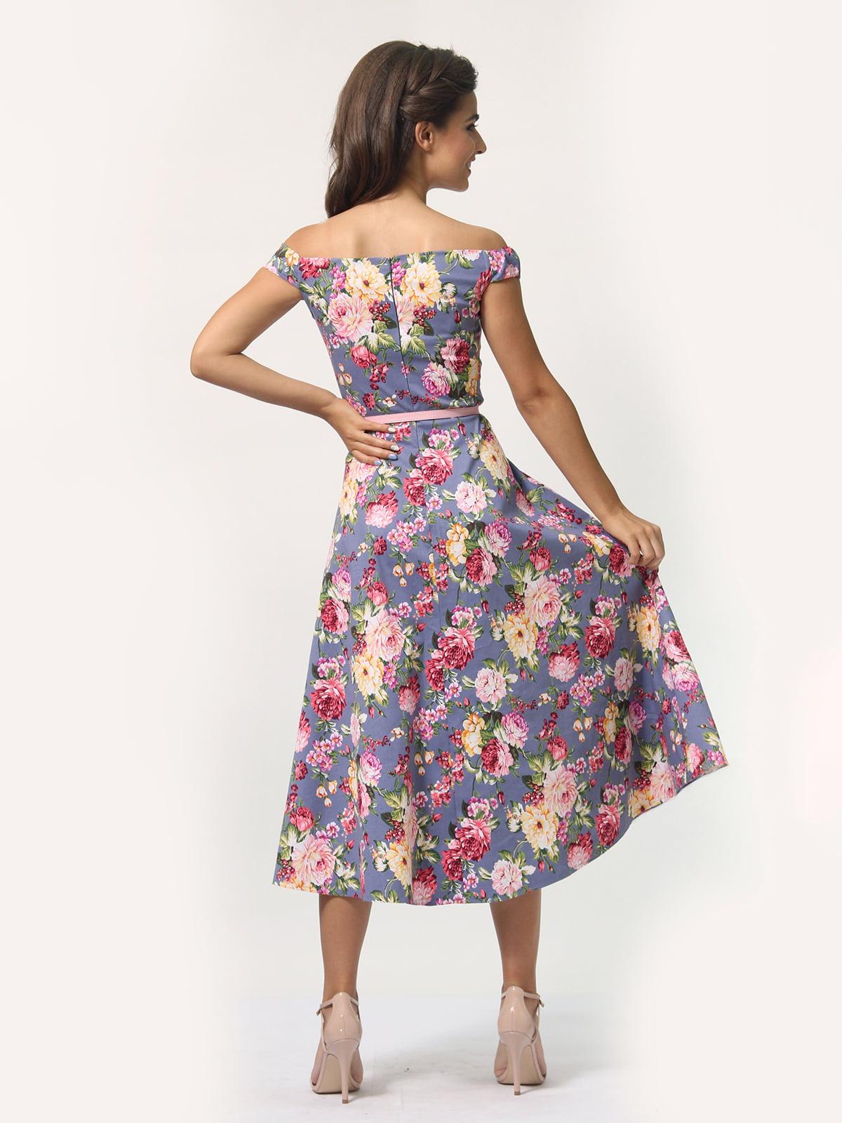 Платье в цветочный принт   4388464   фото 6