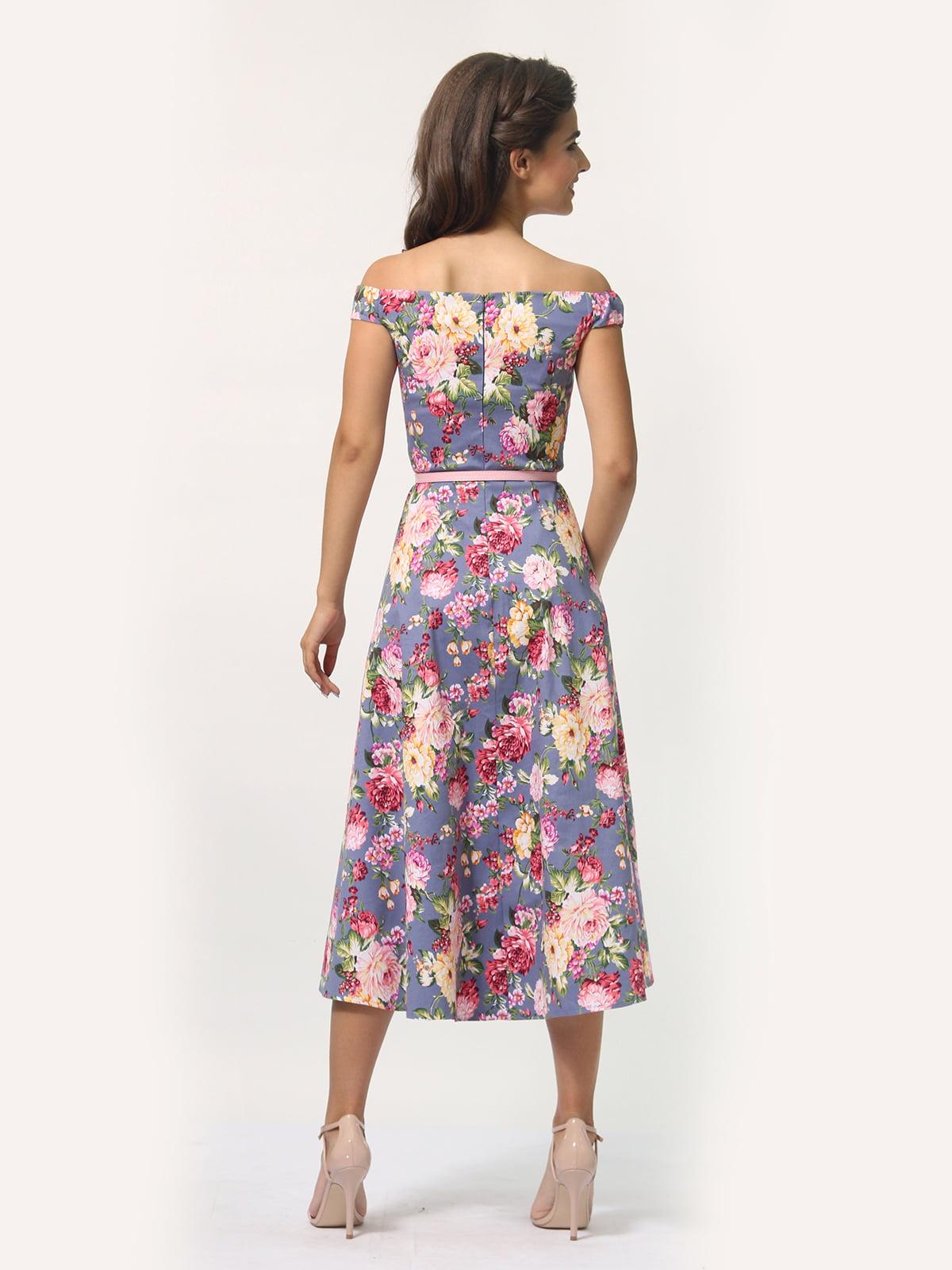 Платье в цветочный принт   4388464   фото 7