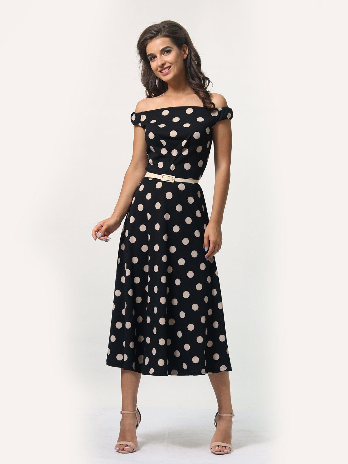 Сукня чорна в горошок   4388478