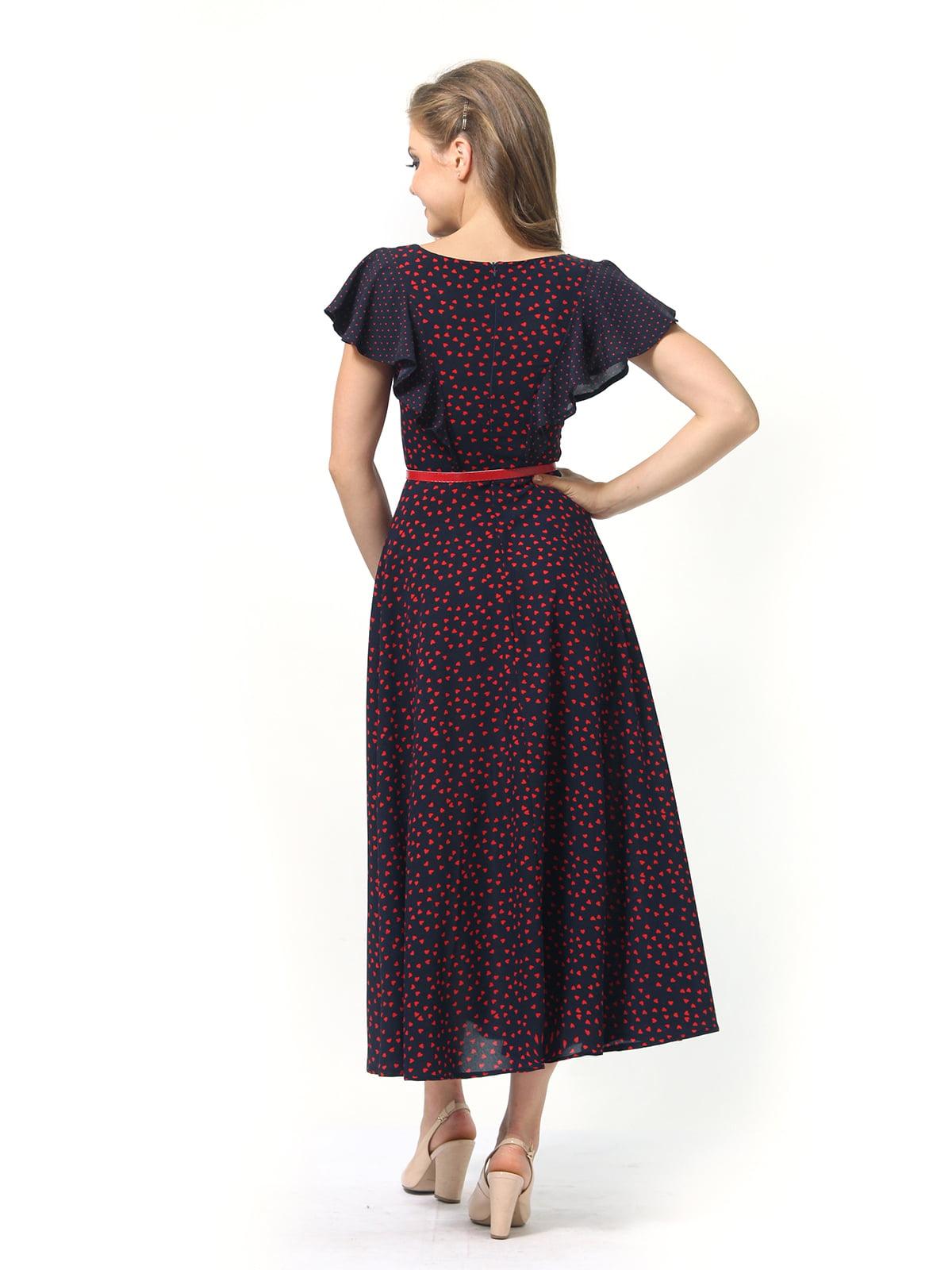 Платье темно-синее в принт | 4389325 | фото 6