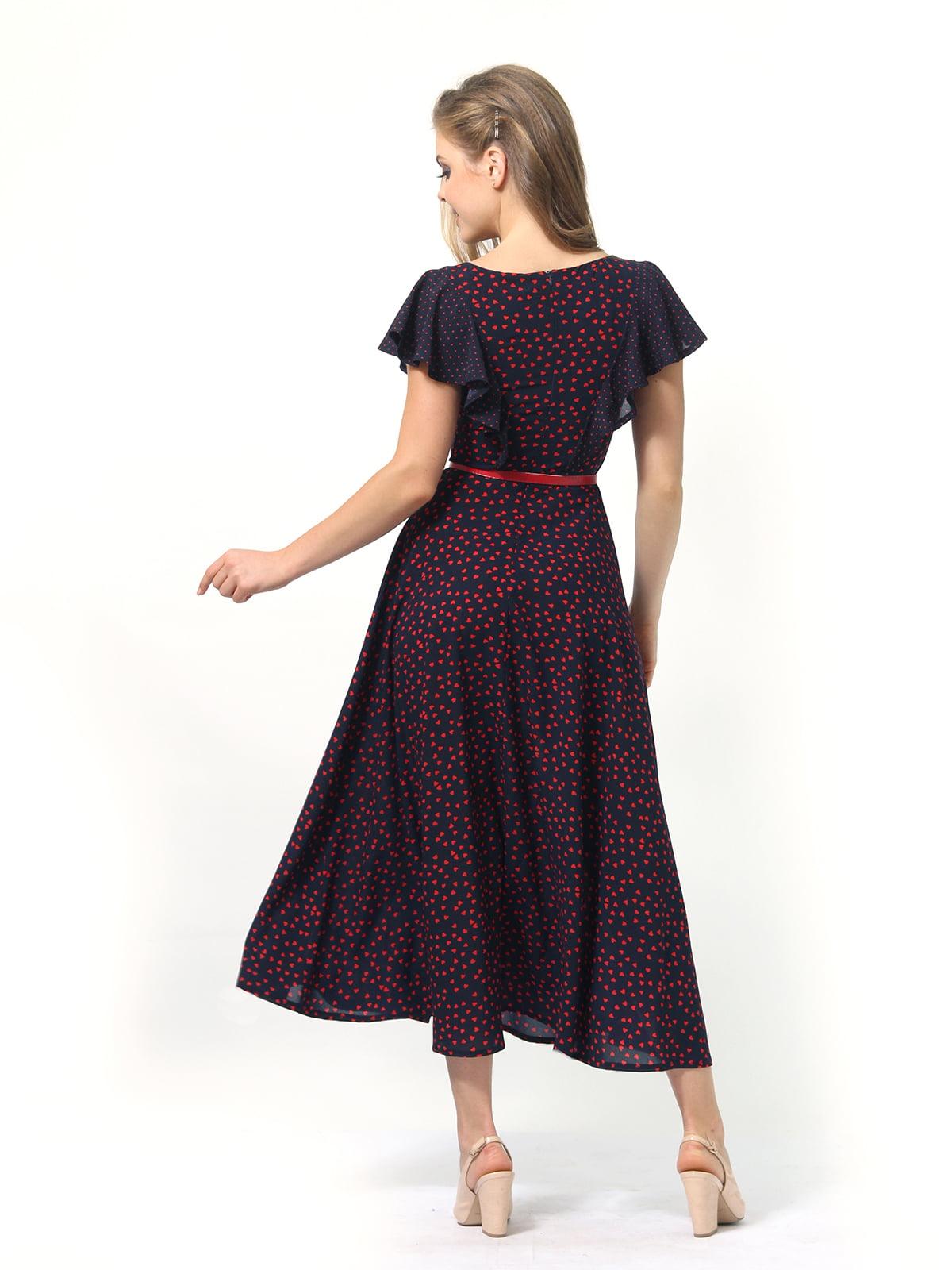 Платье темно-синее в принт | 4389325 | фото 7