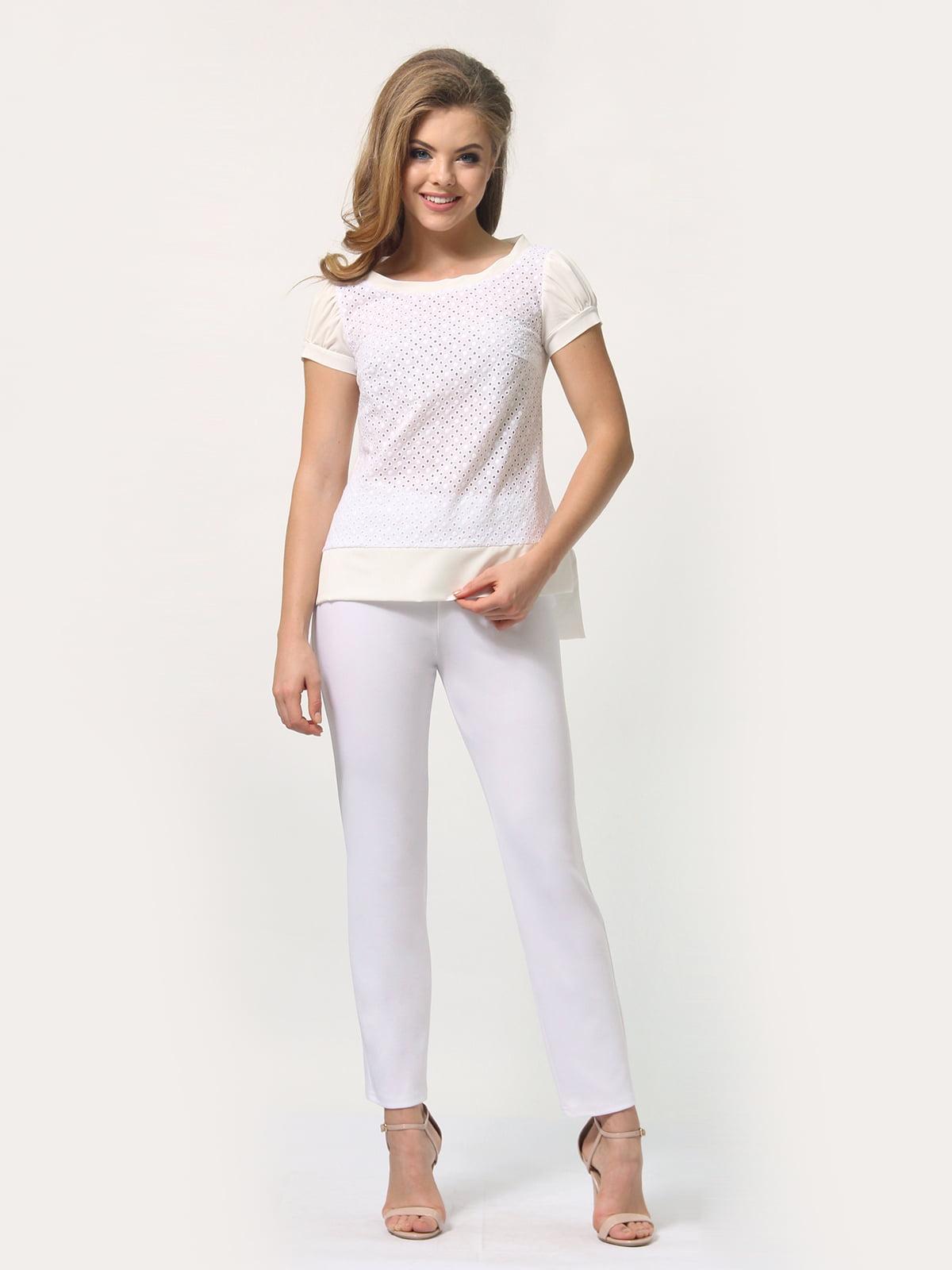Блуза молочного цвета | 4389338
