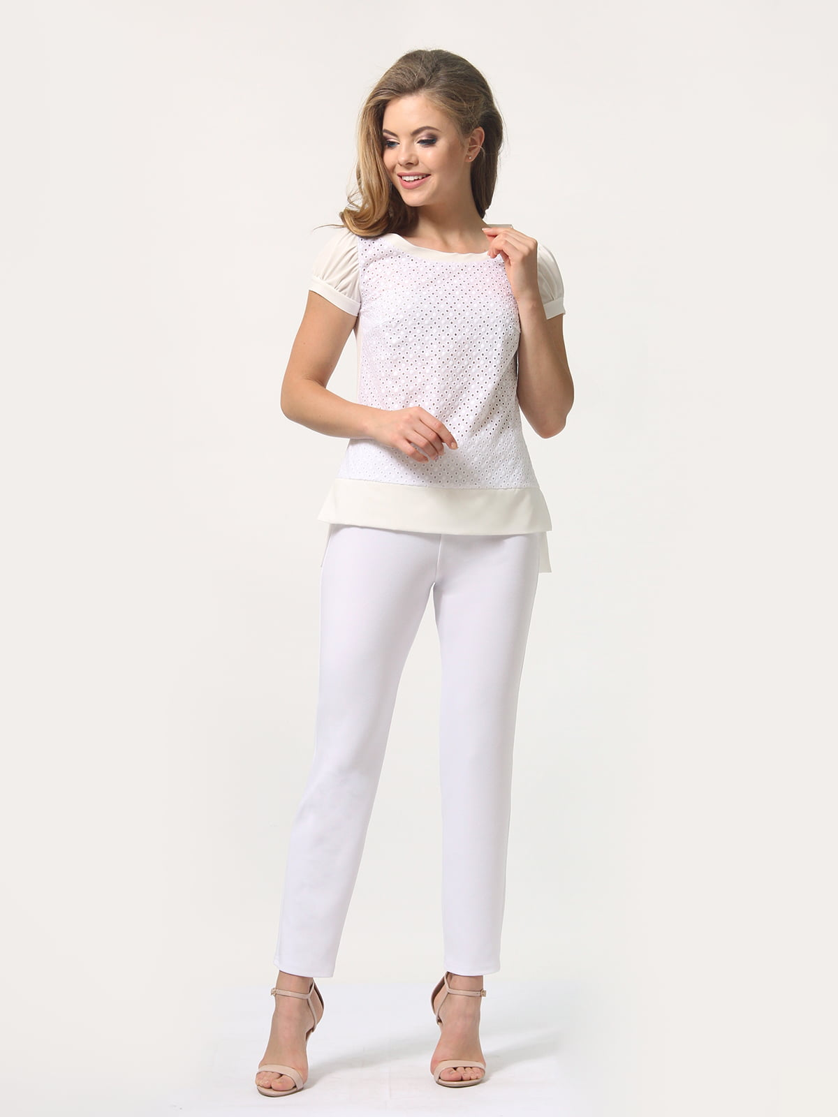 Блуза молочного цвета | 4389338 | фото 2