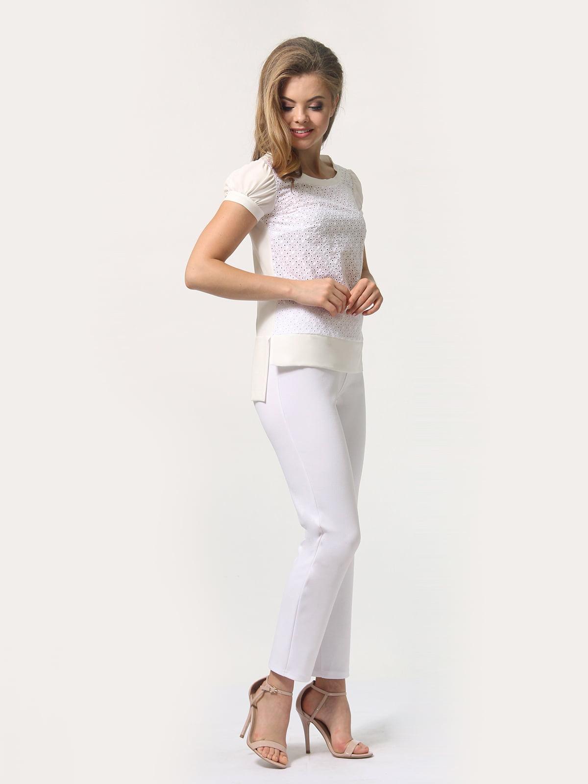 Блуза молочного цвета | 4389338 | фото 3