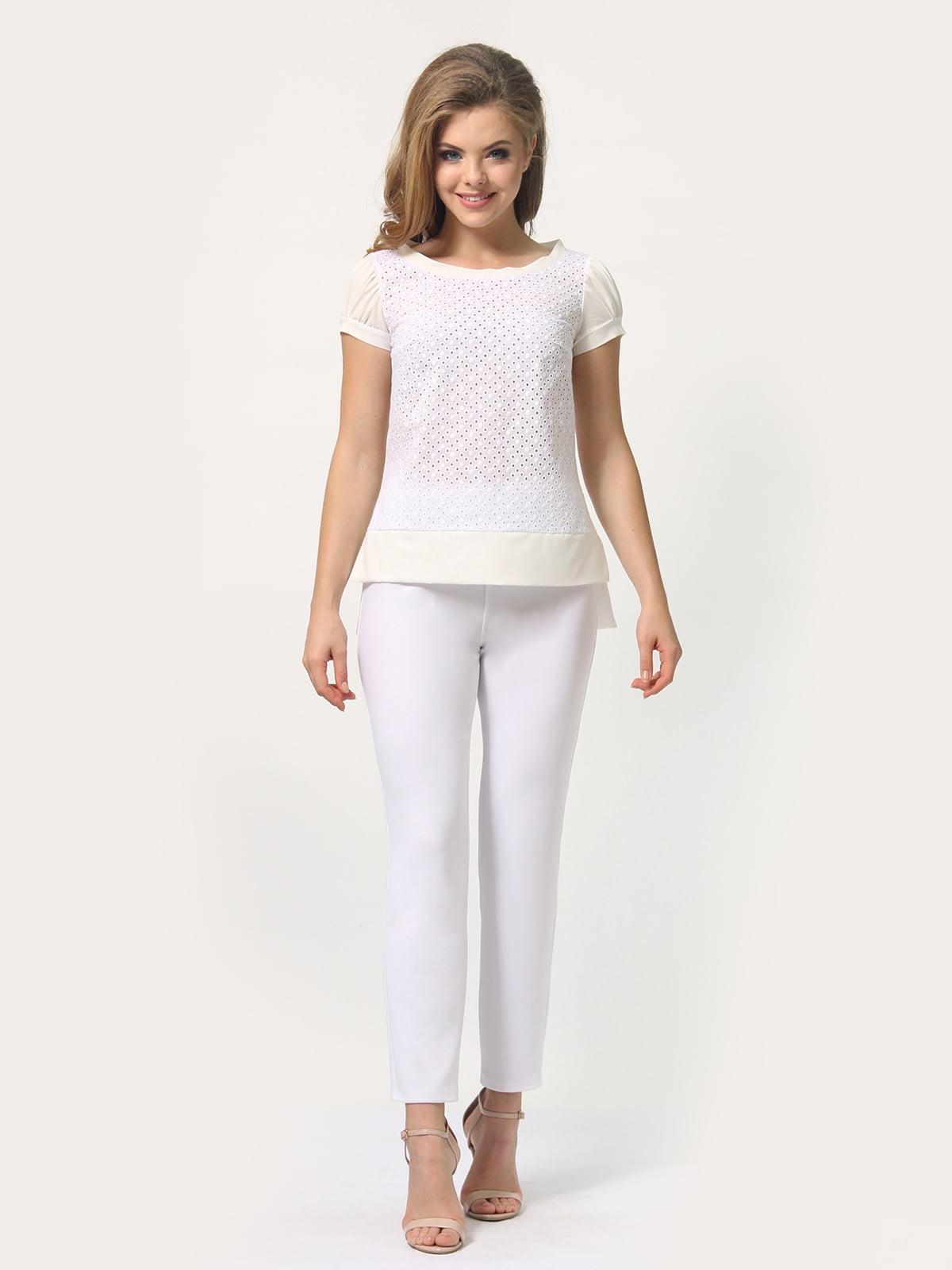 Блуза молочного цвета | 4389338 | фото 4