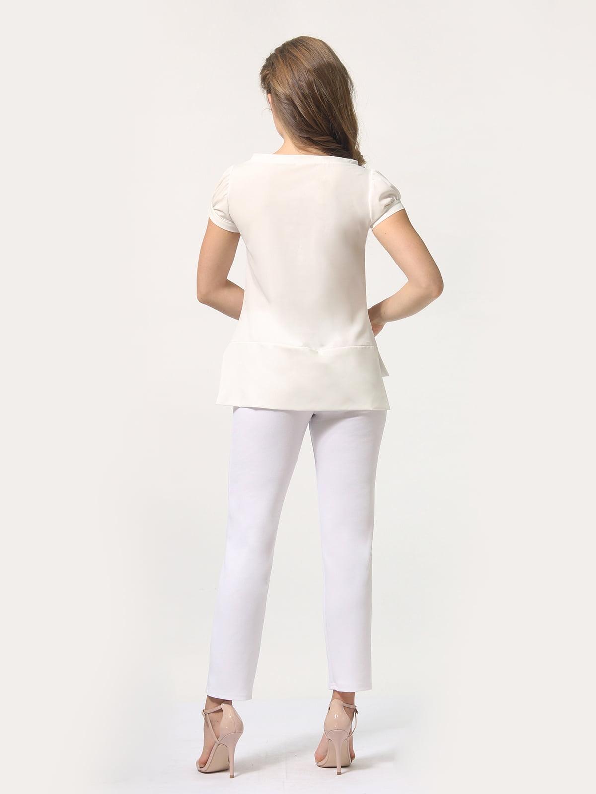 Блуза молочного цвета | 4389338 | фото 5