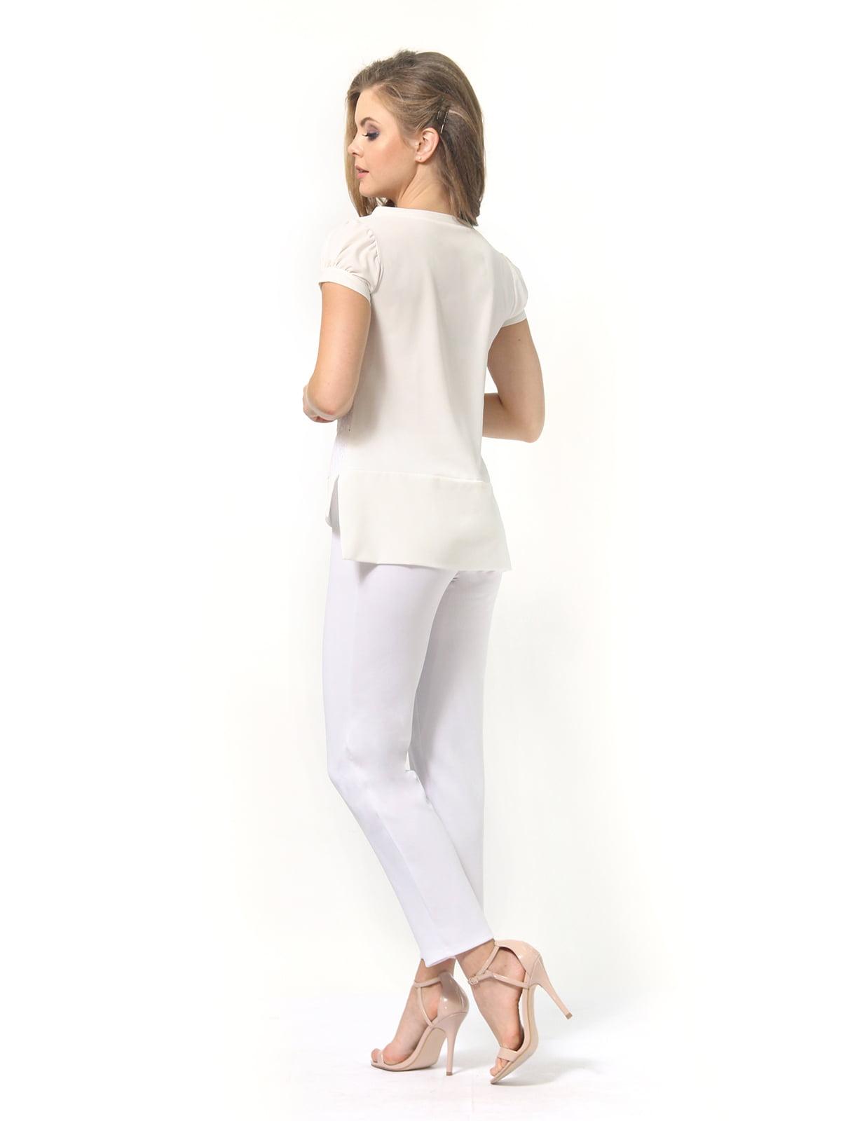 Блуза молочного цвета | 4389338 | фото 6