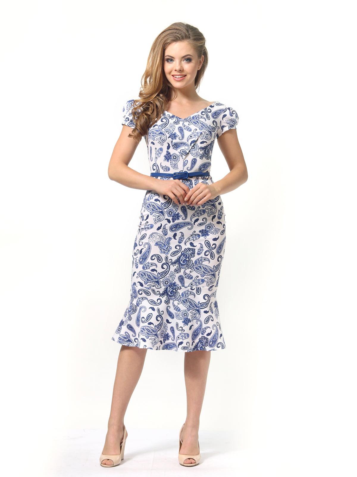 Платье белое в принт   4389340   фото 4