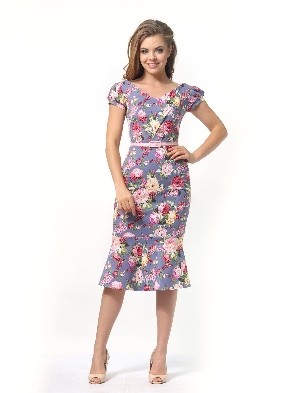 Платье в цветочный принт | 4389341