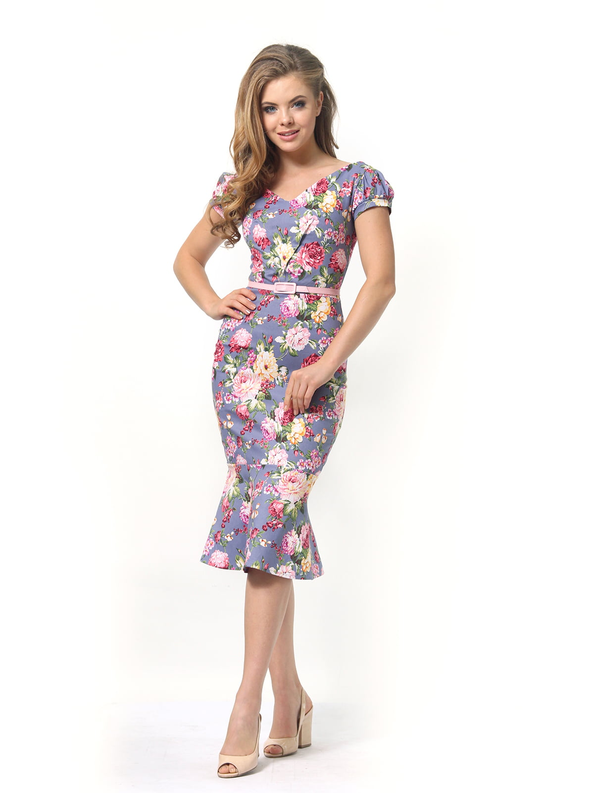 Платье в цветочный принт | 4389341 | фото 2