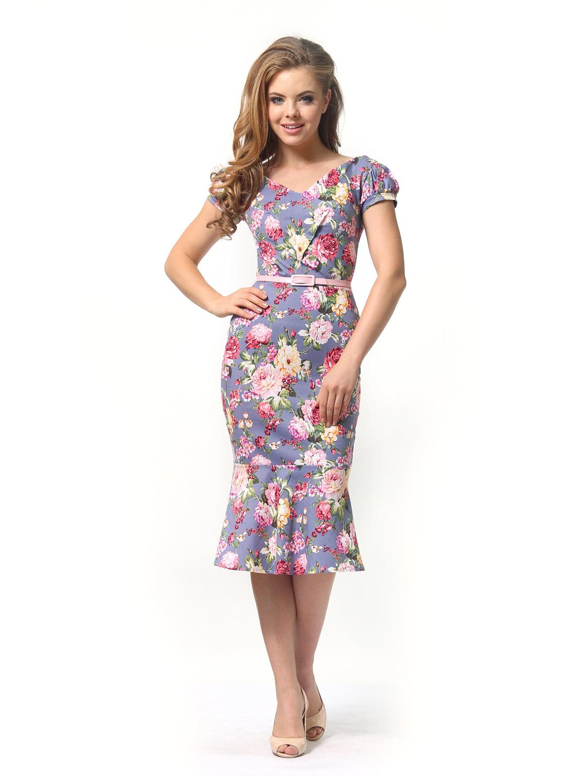 Платье в цветочный принт | 4389341 | фото 3