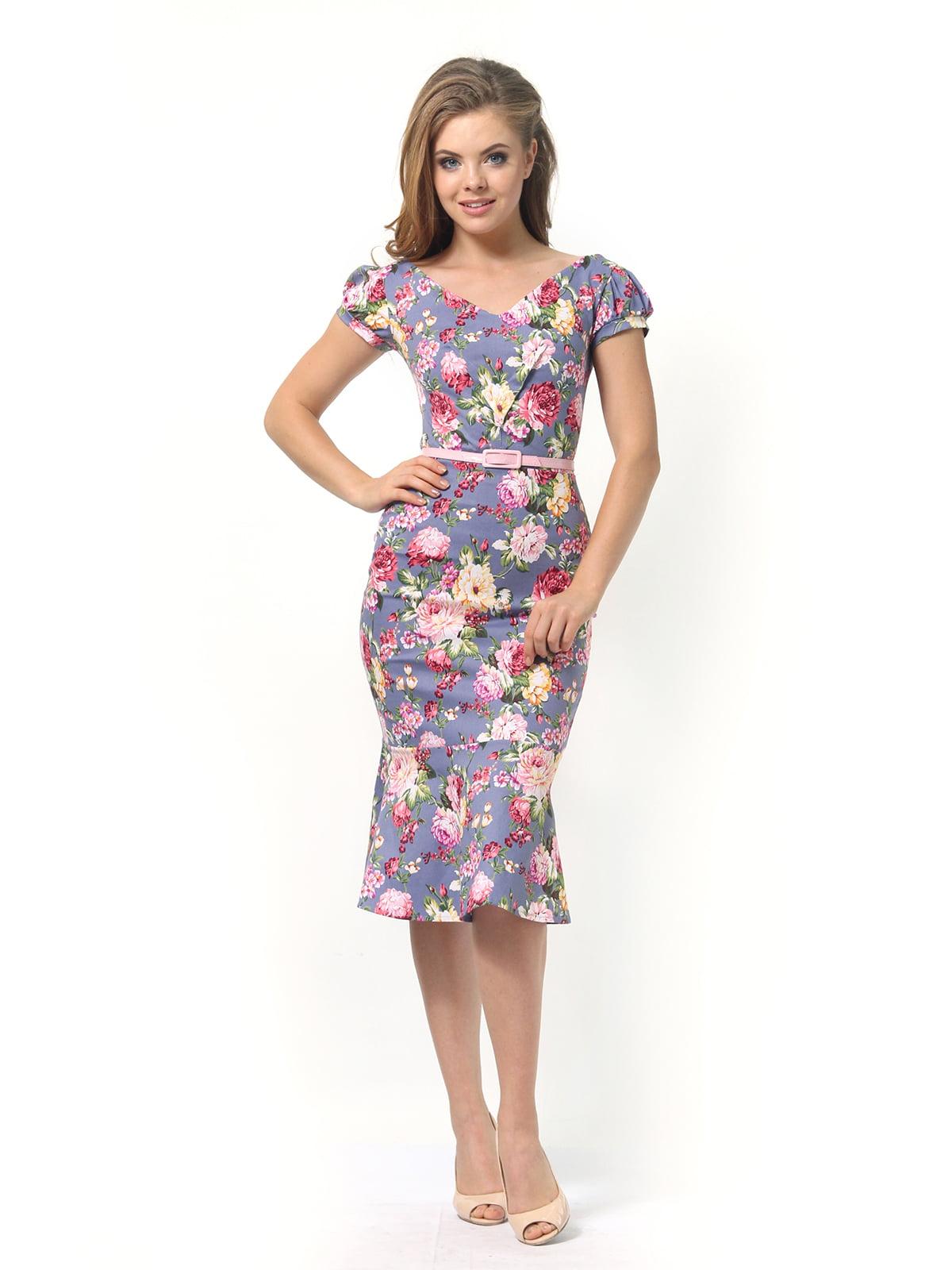 Платье в цветочный принт | 4389341 | фото 4