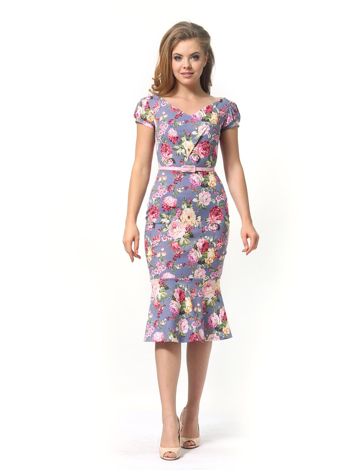 Платье в цветочный принт | 4389341 | фото 5