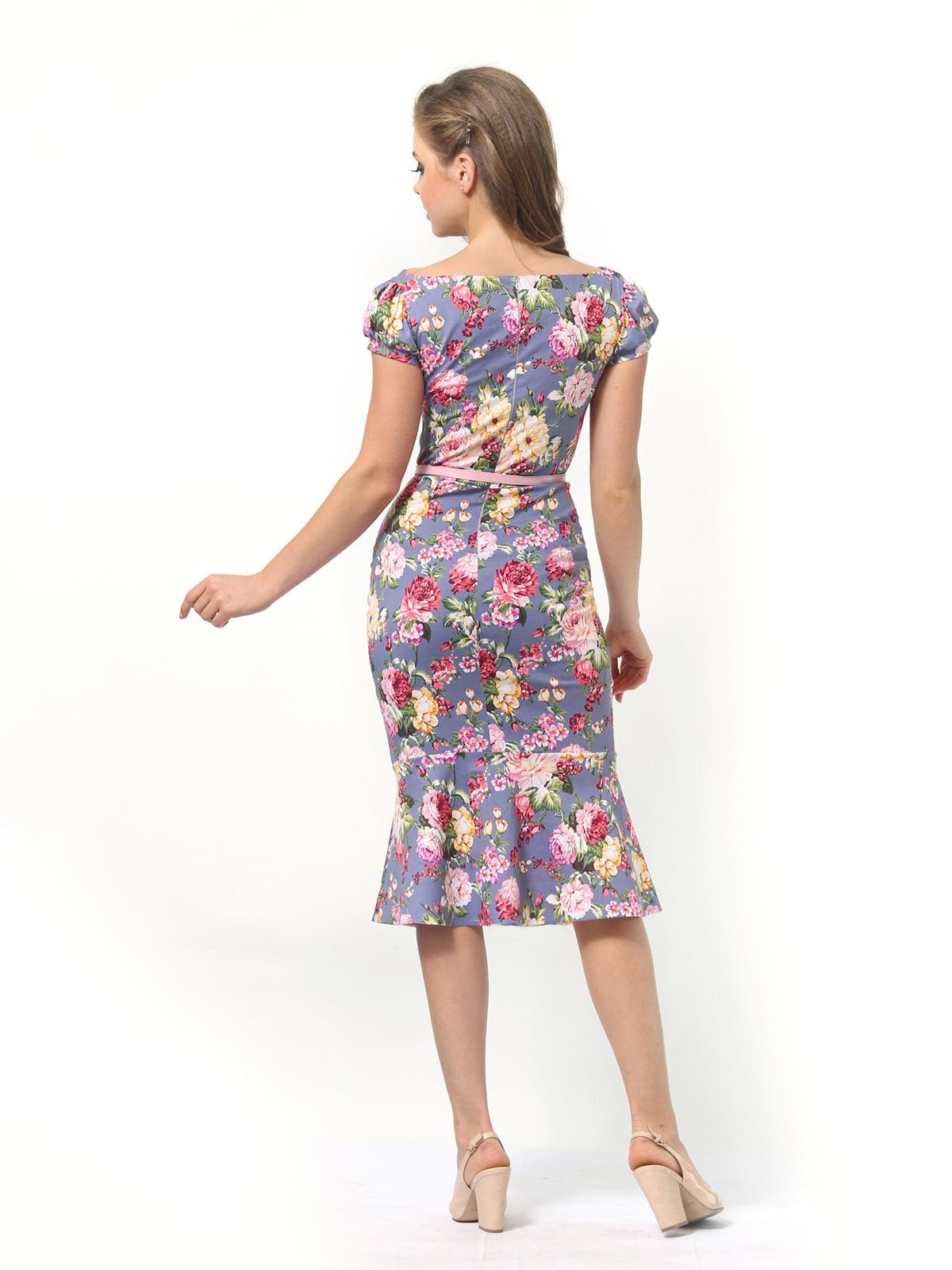 Платье в цветочный принт | 4389341 | фото 6