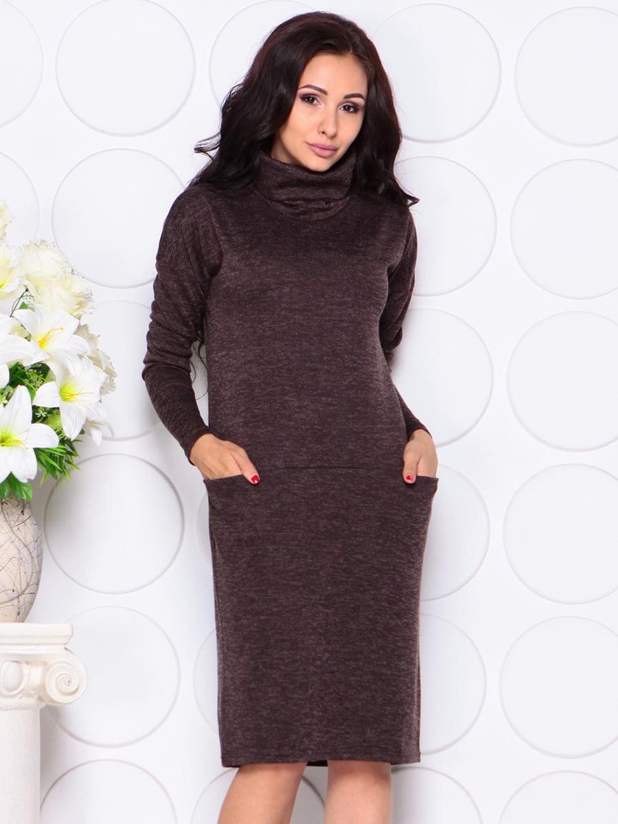 Платье шоколадного цвета | 4389175